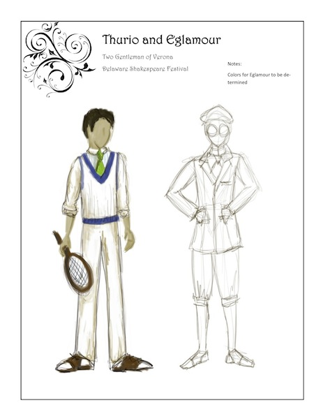 two gents costume design