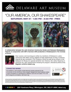 OUR AMERICA, OUR SHAKESPEARE Community Sharing – May 21