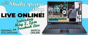 Shakespeare Day 2020–ONLINE!
