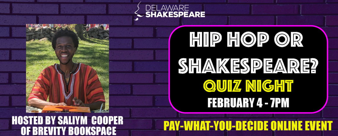 Hip Hop or Shakespeare? Quiz Night